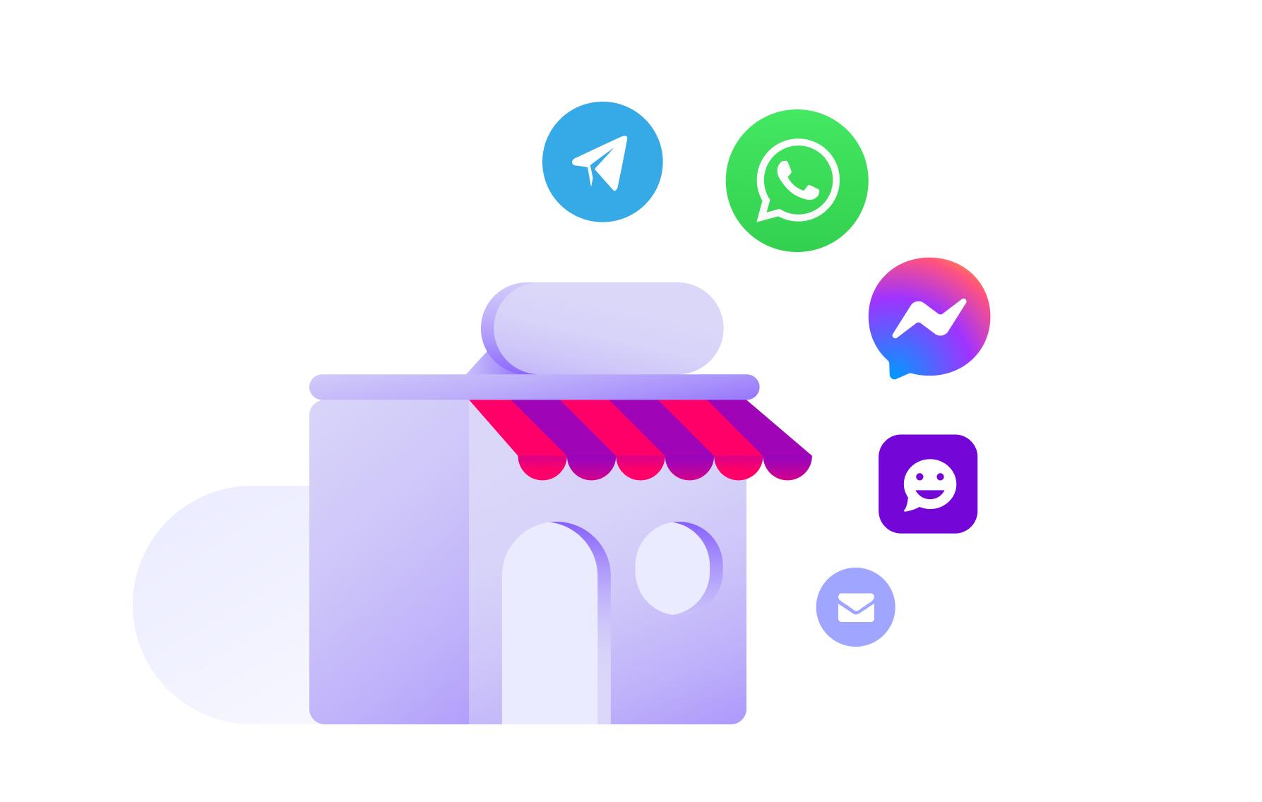 A Huggy é uma plataforma omnichannel. Sendo possível gerir e responder mensagens de diversos canais diferentes, como WhatsApp, Facebook Messenger, Telegram, Chat, entre outros.